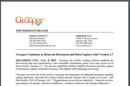 Grooper Continues to Reinvent Document and Data Capture with Version 2.7
