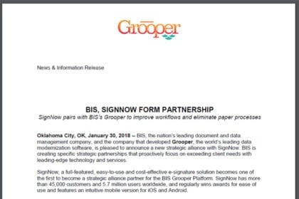 BIS, SignNow Form Partnership