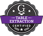 table extraction training badge
